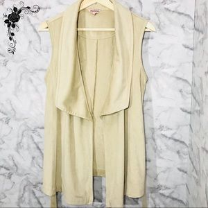 Juicy Couture Faux Suede Belted Vest